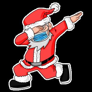 Weihnachten Dabbing Nikolaus Santa Claus Geschenk