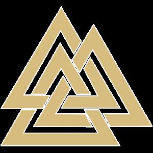 Valknut Runen Dreieck