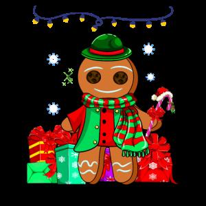 Weihnachten Geschenk Lebkuchenmann Heiligabend