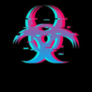 Virus Corona 2020 Infizierter Logo Symbol Geschenk