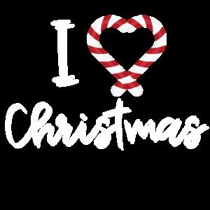 I love Christmas Geschenk Weihnachten süß