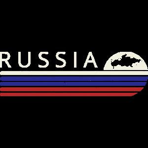 Russland Flagge Retro Russia Vintage Russisch