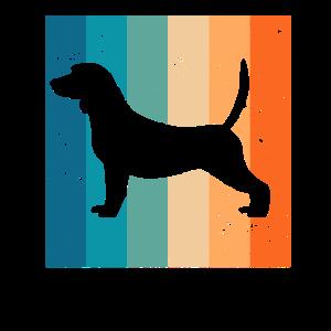 Beagle Hunde Retro Hundebesitzer Tier Geschenk