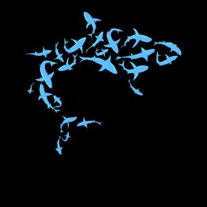 Großer Hai aus vielen kleinen Haien Geschenk