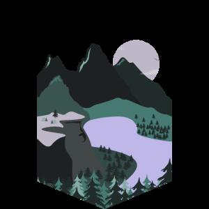Nachtwaldlandschaft