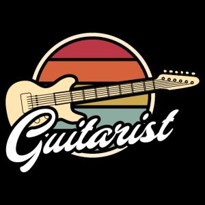 Gitarrist Vintage retro Motiv Gitarre
