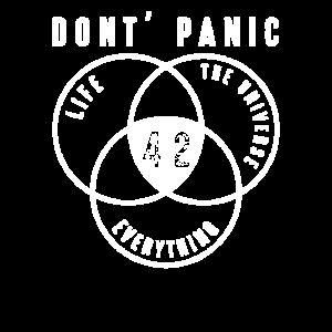 Keine Panik 42 Antwort Universum Geschenk