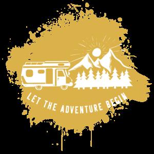 Camper Camping Campen Gold