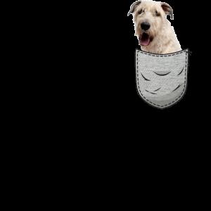 Irischer Wolfshund Brust-Tasche Pocket