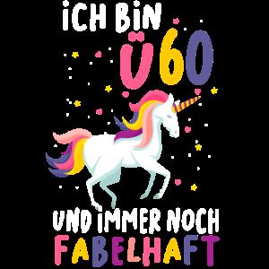 Lustiges Geburtstag Geschenk Einhorn 60+ Jahre
