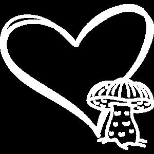 Pilze Shirt Herz Pilz Shirt Pilzsammler Geschenk