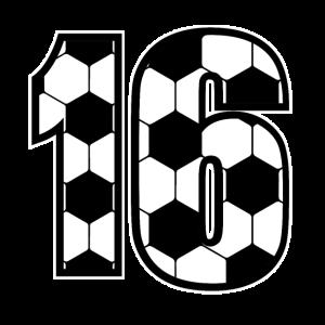 Fußballliebhaber Spieler Sechzehn 16. Geburtstag G