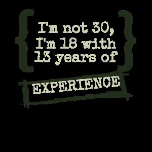 Ich bin 18 Jahre - mit Zusatzerfahrung