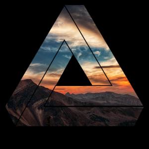 Natur Dreieck Berge / Geschenk