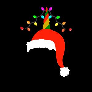 Lustiges Weihnachts Einhorn Weihnachten Geschenk