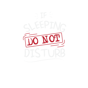 Lustiger Pyjama Nicht stören