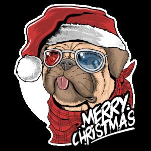 Mops Weihnachten Hund Weihnachtsgeschenk Geschenk