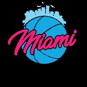 Vintage Miami Florida Retro Basketball Gift Idea