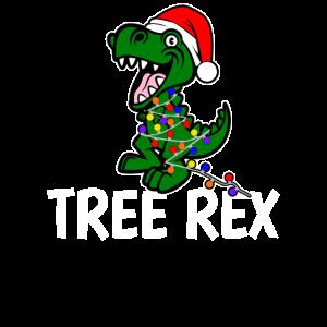 TREE REX Weihnachtsbaum Dinosaurier Geschenk X-Mas