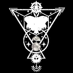 Witchcraft Tattoodesign Craft Inked Art Motte Moon