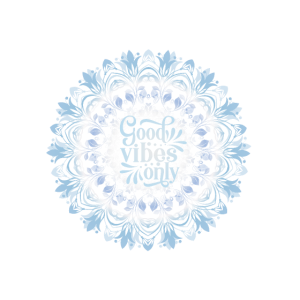 Good Vibes Florales Mandala Blau