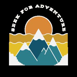Seek for Adventure retro Berge Wandern Outdoor