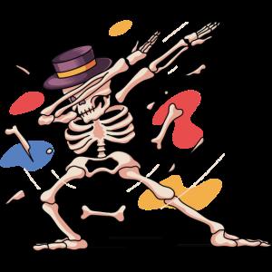 Helloween Dabbing-Skeleton