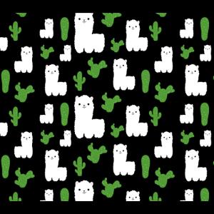 Kaktus und Alpaka Muster