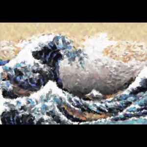 Die große Welle vor Kanagawa Abstrakte Öl Kunst