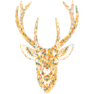 Deer Geometric Face Shirts