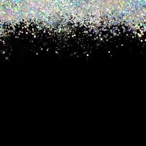 Schwarzer holographischer Glitzer Elegant schillernd
