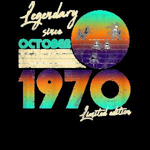 Legend Since Bday 1970 October Vintage 50Th Birth