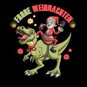 Weihnachten T-Rex Heiligabend