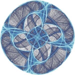 Circle Star Chakra Mandala Mantra OM Chaos 9801ice