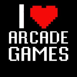 Ich Liebe Arcade Games Retro Vintage 80s Geschenk