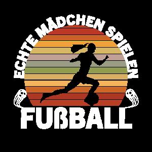 Echte Mädchen spielen Fußball Frauenfußball