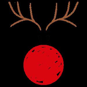 Rentier rote Nase Geschenk Weihnachten für Damen