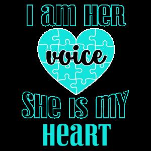 Special Needs Mom Geschenk Ich bin ihre Stimme Sie ist meine