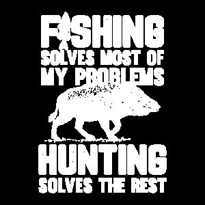 Keiler Wildschwein Jäger und Angler