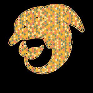 Dolphin Geometric Tee Shirts
