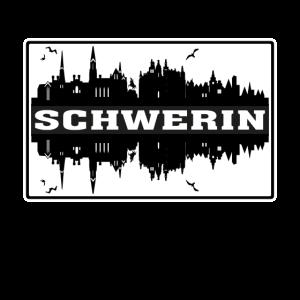 Schwerin Deutschland Reise Souvenir Skyline Silhouett