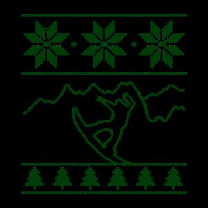 Snowboarder, Strickmuster, Wintersport Weihnachten
