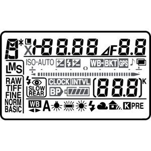 Kamera-Display (schwarz)