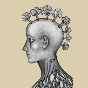 mujer brócoli