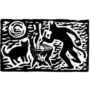 Teufel mit Katze