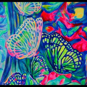 06 Schmetterlinge Kunst Malerei