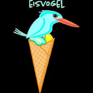 Lustiges Eisvogel Eis