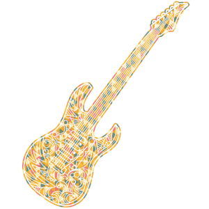 E-Gitarre Geometric Shirts