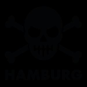 Hamburg Störtebeker Totenkopf Logo Schwarz