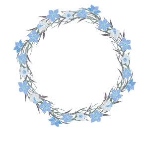 Junior Bridesmaid Blush Floral Wreath